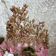 Faded grandeur bride's wax wedding crown tiara diadem