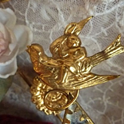 Delicious antique French bride's wedding display stand cupid roses