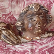 Antique morceau religious church relic polychrome cherub