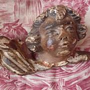 Antique morceau religious church relic polychrome cherub
