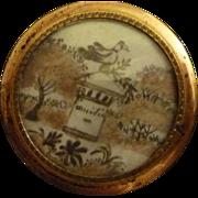Delicious 19th century fine hair art frame Amitié friendship dove