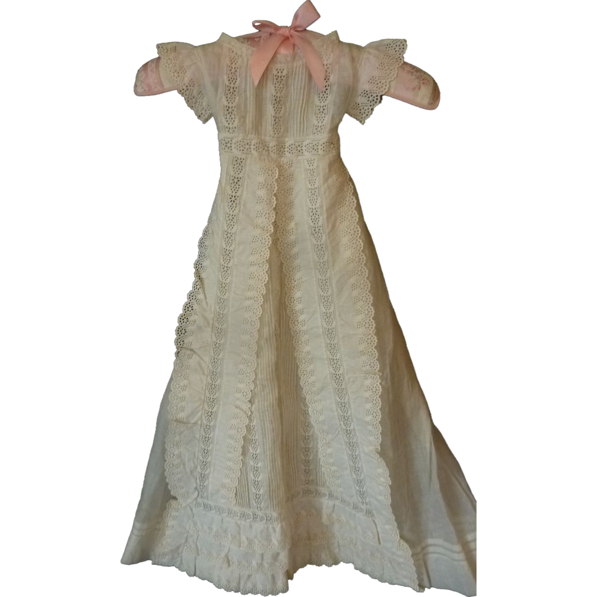 Adorable Antique Baby Christening Gown Robe Dress Broderie