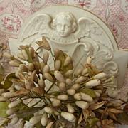 Delicious antique French brides orange blossom wax wedding crown or tiara