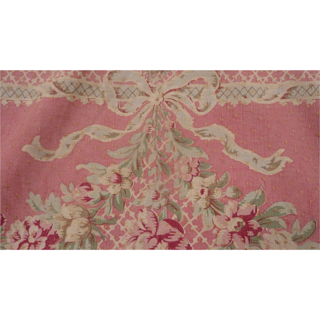 Faded grandeur french wide pink linen toile fabric panel for French toile fabric