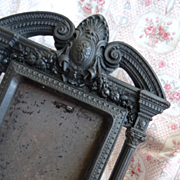 Decorative 19th C. French gutta percha easel photo frame Napoleon III