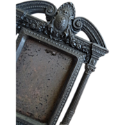 Decorative 19th C. French gutta percha easel photo frame Napoleon III