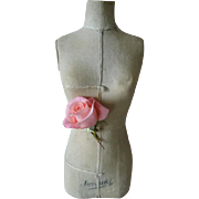 Decorative vintage French miniature bust : dress form : mannequin : dummy  16 1/4 inches high