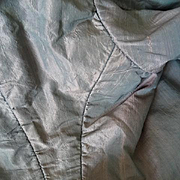 Elegant late 18th C. French ladies  pearl grey and pink shot silk bodice jacket  label dated 1796
