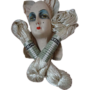 2 skeins old haberdashery French Perline ivory faux silk thread project boudoir doll makeover hairdo