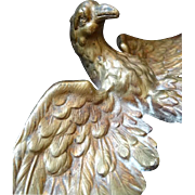 Decorative antique French patinated bronze eagle pediment : furniture mount .......projects !
