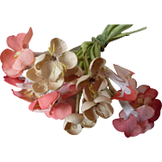 Delicious faded grandeur old French primula and blossom millinery flower bouquet