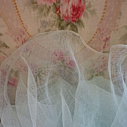 Superb French wide duck egg tulle fabric for doll: sewing  projects : old shop stock