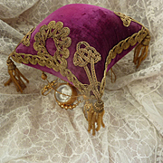 Romantic antique French display wedding pillow : ormolu stand : angels : jewelry box