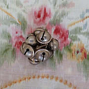 Batch adorable old French silver metal bells ( 12 )  : doll projects