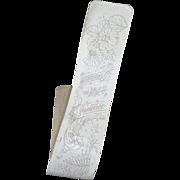 Interesting 19th C. French Bayeux Chantilly bobbin lace pattern : carton piqué : morceau shawl