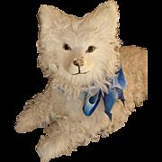 """"""" Mademoiselle"""" vintage cream real fleece pajama dog : ideal  doll companion"""