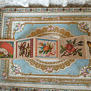 Delicious old French embroidery pattern booklet : album : rabbit : goat : monograms