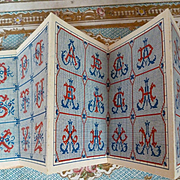Adorable old French embroidery pattern booklet : album : monograms : Maison Sajou