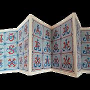 Adorable old French embroidery pattern booklet : album : monograms : Maison Sajou
