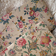 2 delicious French faded grandeur fabric covered boxes : exotic blooms : roses