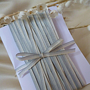 10 yards delicious French narrow ombre : graduated silk ribbon : grey : white : circa late 1800's