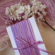 Delicious old French narrow lilac and pink colored graduated ombre silk ribbon circa late 1800's : 10 yard length