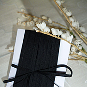 10 yards delicious antique French unused narrow black ribbon : doll projects