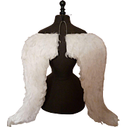 Heavenly pair of large white real feather angel wings : dressing up : theatre : procession