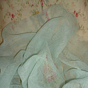 Ethereal French old stiffening tulle fabric duck egg : seafoam green color : extra wide 53 inches