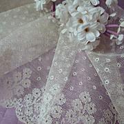 Beautiful flounce 18th C. Mechlin hand made Flemish bobbin lace : floral motifs : 39 inches long
