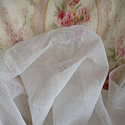 Delicious old French white stiffening tulle fabric : doll clothes projects