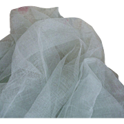 Delicious French duck egg : seafoam green colored stiffening tulle fabric : doll projects : 52 inches wide