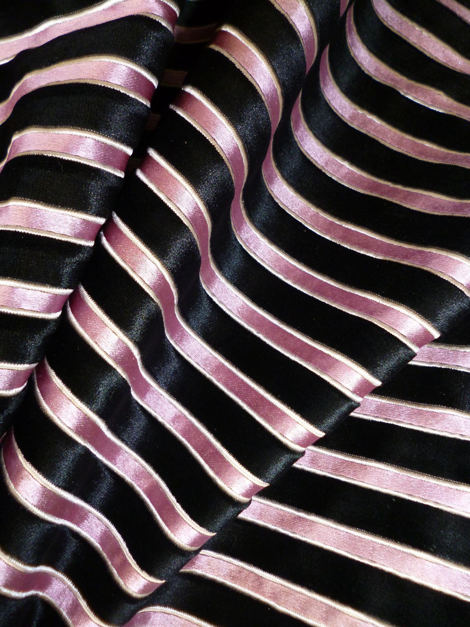 Striped Velour Fabric Polyester Yarn Dyed Stripe Chenille Fabric Jaclyn Smith Upholstery Velvet