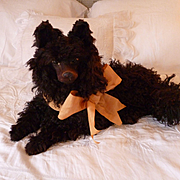 """""""Clochette"""" adorable French curly coated boudoir pajama dog doll companion"""