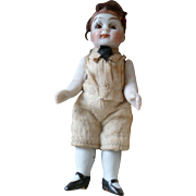 Adorable antique bisque mignonette doll : rosy cheeks : 3 1/2 inches high