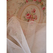 Delicious French old white stiffening tulle fabric : doll clothing and hat projects