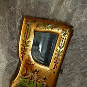 Enchanting 19th C. French miniature display sedan chair vitrine : cherubs : mignonette doll display