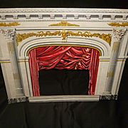 Decorative antique lithograph theatre : theater : circa 1900 : projects