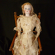 Splendid French doll's wooden hand caned armchair : chair : 1900's : perfect fashion doll accessory