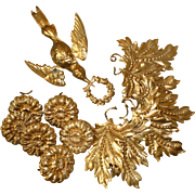 Delicious French ormolu motifs : leaves : flowers : dove with floral wreath : projects ( 13 )