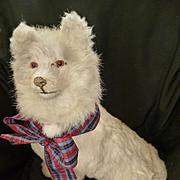 Rare French cream pajama dog : sitting position : Pomeranian : doll companion