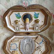 Adorable French toilette set presentation box : miniature doll : etrennes