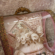 Delicious antique French pink boudoir wedding cabinet : casket :  bridal crown : ribbon bow