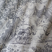 Rare morceau enchanting French grey & cream fabric fairy tale Sleeping Beauty , circa 1900 : projects