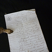 Decorative 19th C. French hand written document : 1836 : Louis Philippe