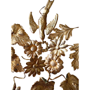 Decorative French ormolu motifs : dove floral wreath : flowers : leaves : projects