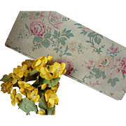 Delicious vintage French fabric box :  6 bouquets millinery flowers : buttercups