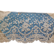 Pretty flounce old ecru Valencienne lace : 107 inches long : projects