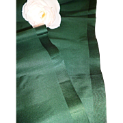 Delicious length 19th century French bottle green unused fabric : projects : + 3 yards