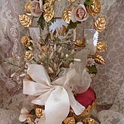 Delicious 19th C. French brides faded grandeur wedding bouquet